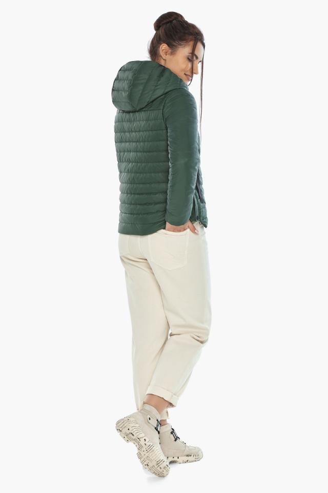 """Нефритовая женская куртка с капюшоном осенняя модель 64150 Braggart """"Angel's Fluff"""" фото 6"""