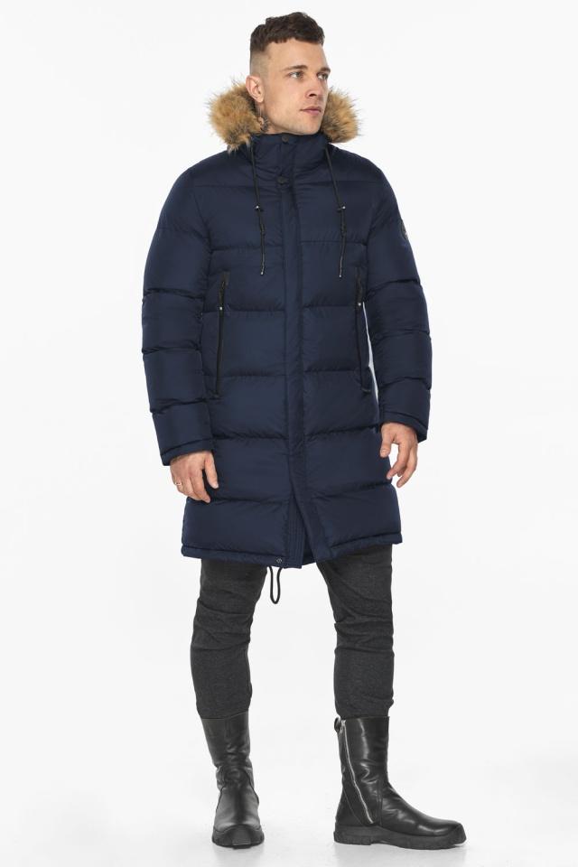 """Тёмно-синяя мужская практичная куртка для зимы модель 49318 Braggart """"Dress Code"""" фото 9"""