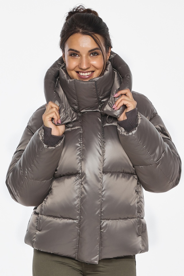 """Куртка с манжетами капучиновая женская модель 44210 Braggart """"Angel's Fluff"""" фото 3"""
