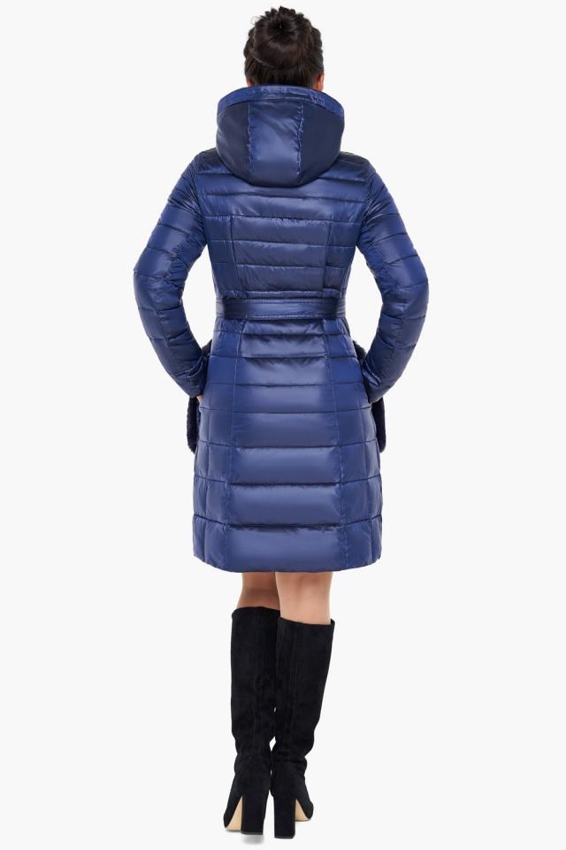 """Сапфировая куртка женская осенне-весенняя модель 31845 Braggart """"Angel's Fluff"""" фото 6"""