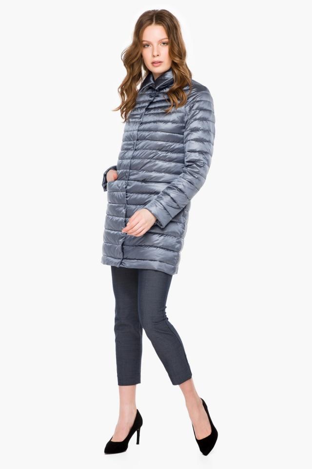 """Куртка з відкладним коміром жіноча осінньо-весняна колір маренго модель 41323 Braggart """"Angel's Fluff"""" фото 4"""