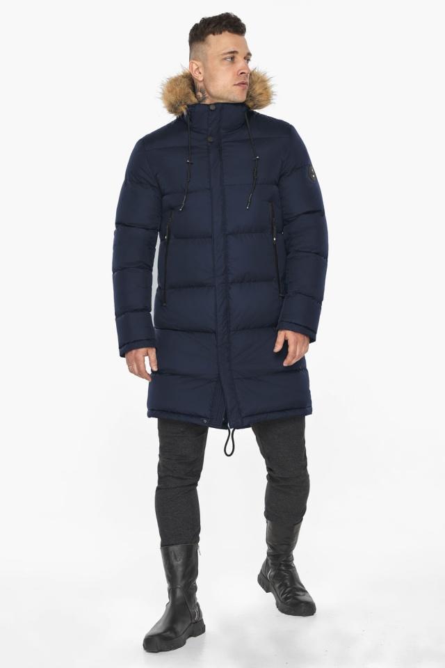 """Тёмно-синяя мужская практичная куртка для зимы модель 49318 Braggart """"Dress Code"""" фото 3"""