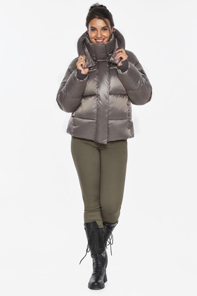 """Куртка с манжетами капучиновая женская модель 44210 Braggart """"Angel's Fluff"""" фото 6"""