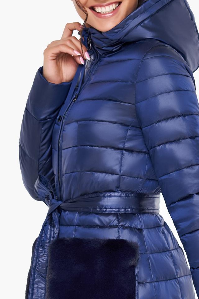 """Сапфировая куртка женская осенне-весенняя модель 31845 Braggart """"Angel's Fluff"""" фото 7"""