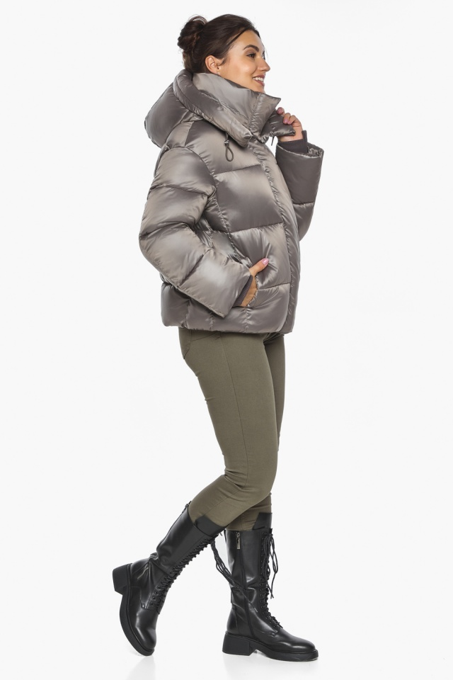 """Куртка с манжетами капучиновая женская модель 44210 Braggart """"Angel's Fluff"""" фото 5"""