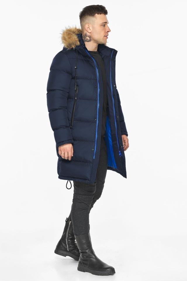 """Тёмно-синяя мужская практичная куртка для зимы модель 49318 Braggart """"Dress Code"""" фото 6"""