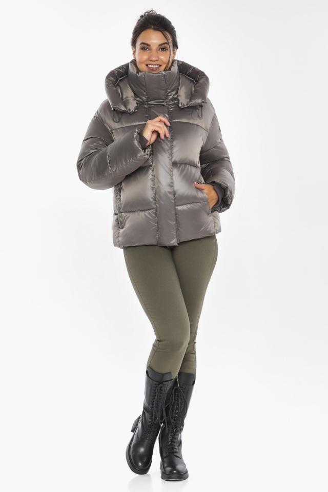"""Куртка с манжетами капучиновая женская модель 44210 Braggart """"Angel's Fluff"""" фото 2"""