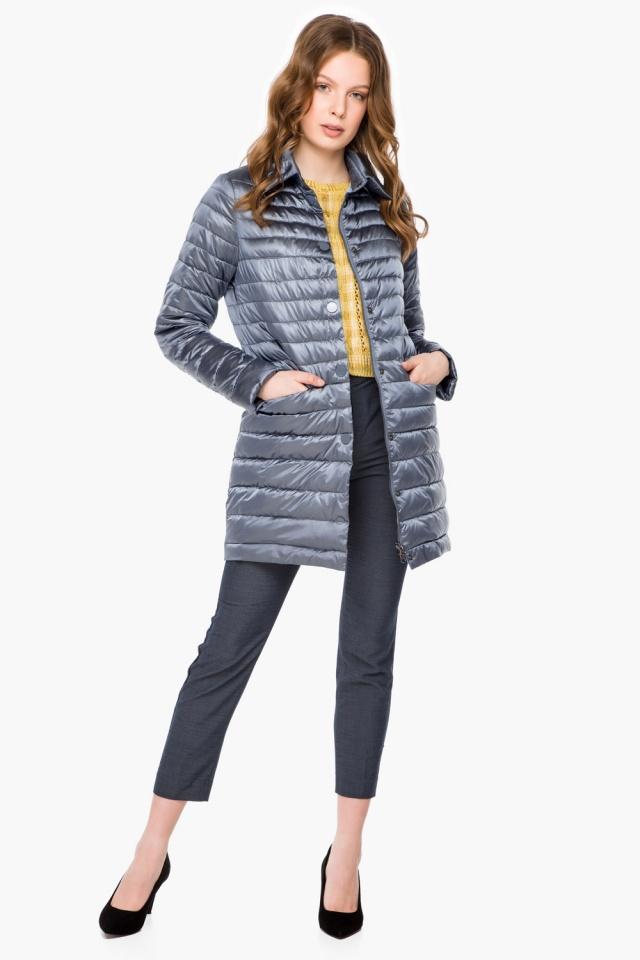 """Куртка з відкладним коміром жіноча осінньо-весняна колір маренго модель 41323 Braggart """"Angel's Fluff"""" фото 2"""