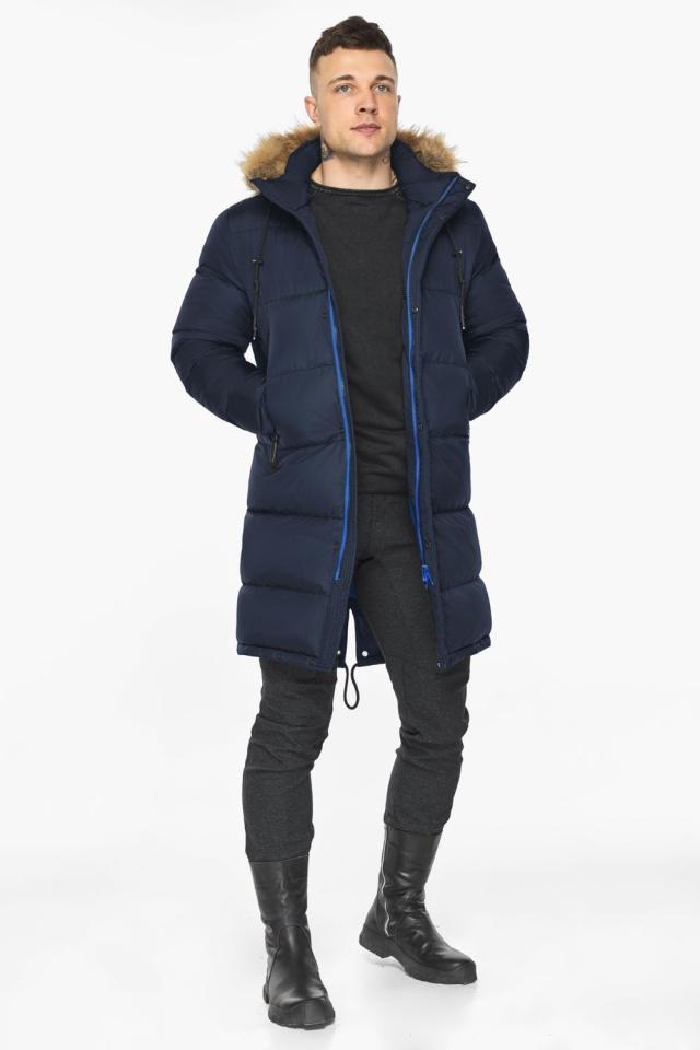 """Тёмно-синяя мужская практичная куртка для зимы модель 49318 Braggart """"Dress Code"""" фото 4"""