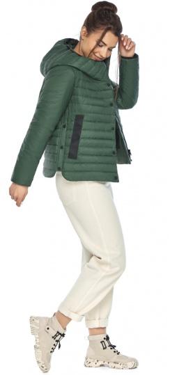 """Нефритовая женская куртка с капюшоном осенняя модель 64150 Braggart """"Angel's Fluff"""" фото 1"""