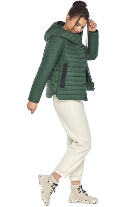 """Нефритова жіноча куртка з капюшоном осіння модель 64150 Braggart """"Angel's Fluff"""" фото 1"""