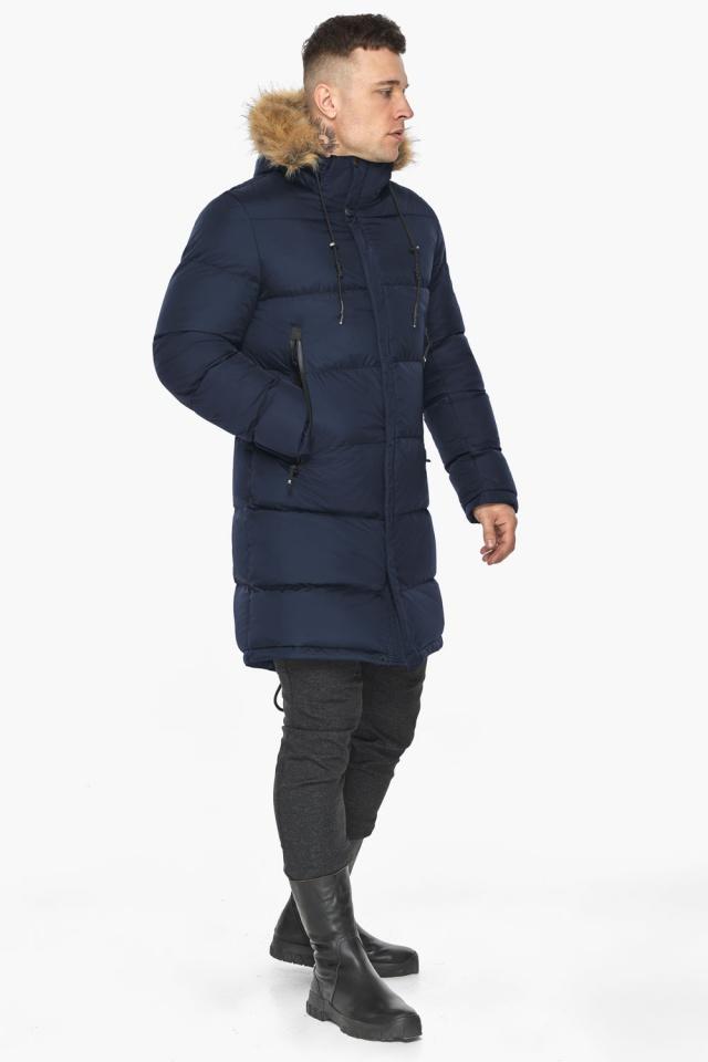 """Тёмно-синяя мужская практичная куртка для зимы модель 49318 Braggart """"Dress Code"""" фото 2"""