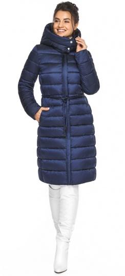 """Куртка с ветрозащитной планкой женская цвет синий бархат модель 44860 Braggart """"Angel's Fluff"""" фото 1"""
