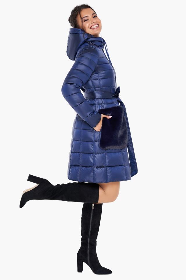 """Сапфировая куртка женская осенне-весенняя модель 31845 Braggart """"Angel's Fluff"""" фото 5"""