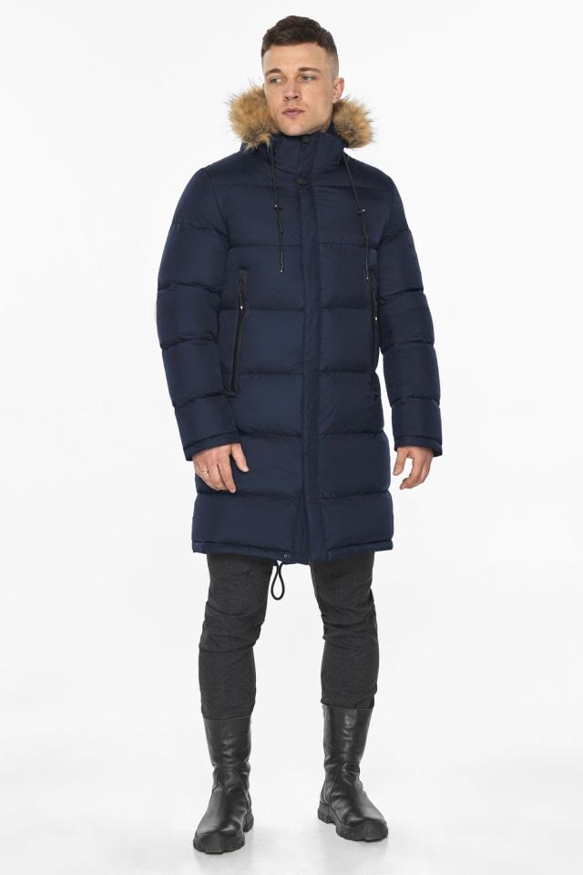 """Тёмно-синяя мужская практичная куртка для зимы модель 49318 Braggart """"Dress Code"""" фото 8"""