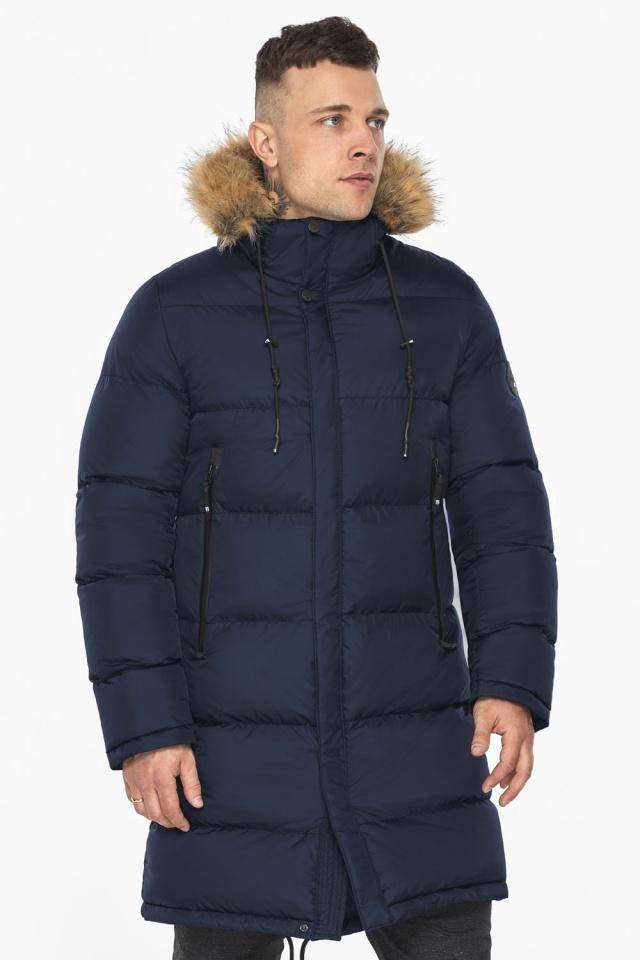 """Тёмно-синяя мужская практичная куртка для зимы модель 49318 Braggart """"Dress Code"""" фото 7"""