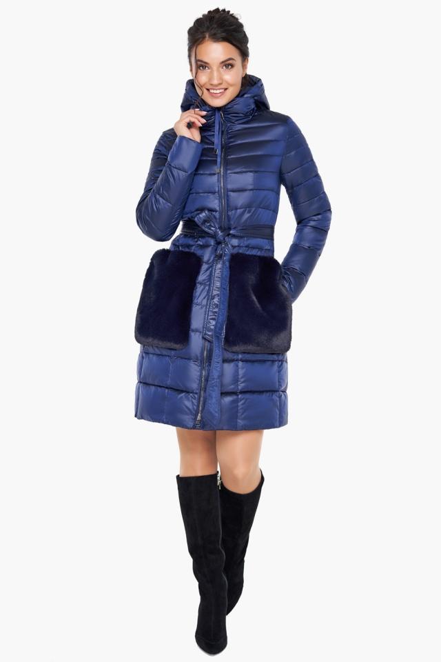"""Сапфировая куртка женская осенне-весенняя модель 31845 Braggart """"Angel's Fluff"""" фото 2"""