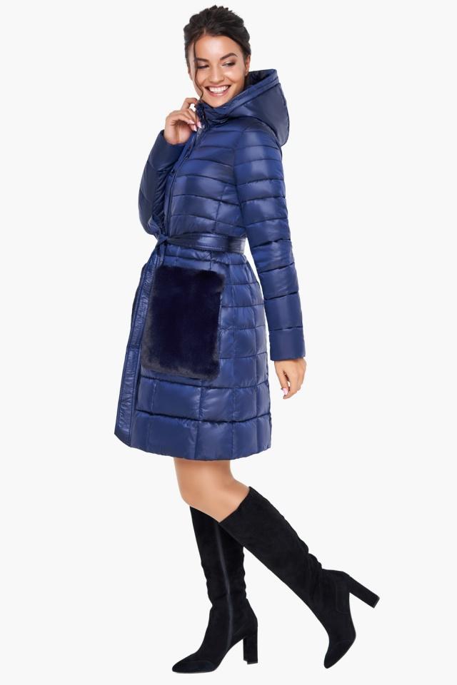 """Сапфировая куртка женская осенне-весенняя модель 31845 Braggart """"Angel's Fluff"""" фото 4"""