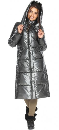"""Фирменная куртка зимняя женская цвет тёмное серебро модель 41565 Braggart """"Angel's Fluff"""" фото 1"""