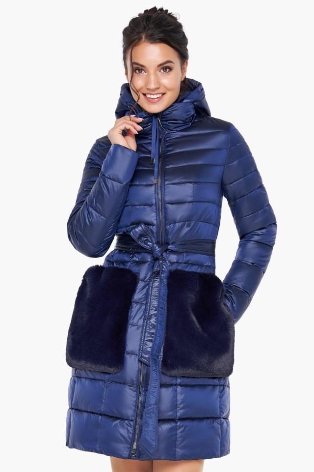 """Сапфировая куртка женская осенне-весенняя модель 31845 Braggart """"Angel's Fluff"""" фото 3"""