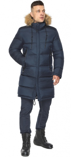 """Тёмно-синяя мужская практичная куртка для зимы модель 49318 Braggart """"Dress Code"""" фото 1"""