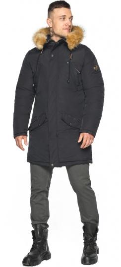 """Куртка – воздуховик чёрный мужской практичный зимний модель 30618 Braggart """"Angel's Fluff Man"""" фото 1"""