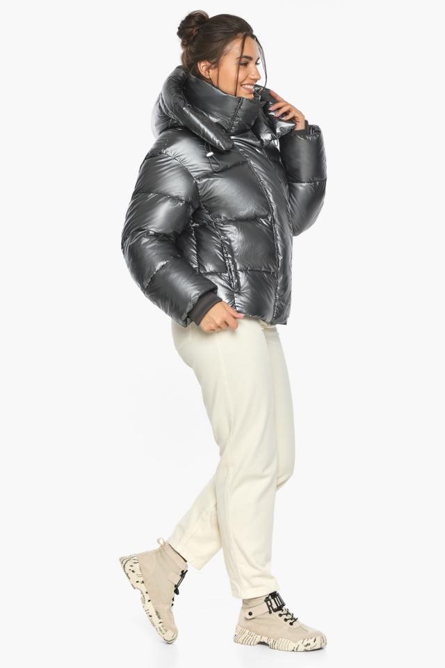 """Куртка женская модная цвет темное серебро модель 44210 Braggart """"Angel's Fluff"""" фото 5"""