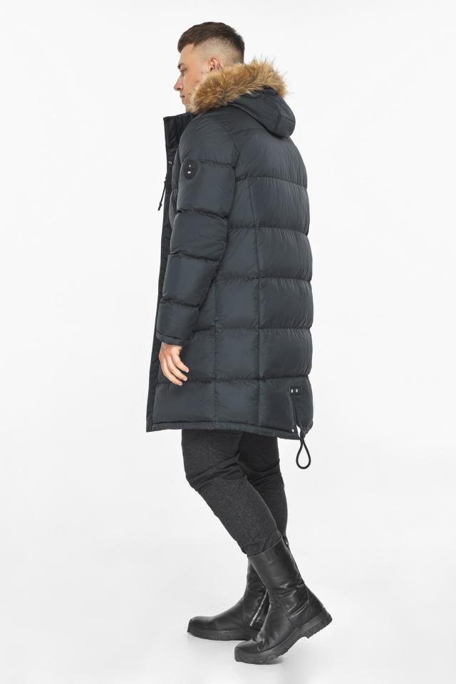 """Зимняя графитовая куртка классического кроя для мужчин модель 49318 Braggart """"Dress Code"""" фото 8"""