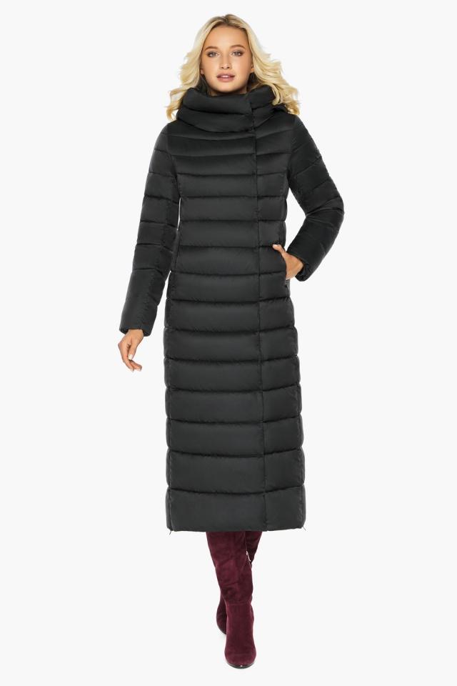 """Чёрная куртка женская зимняя на молнии модель 46620 Braggart """"Angel's Fluff"""" фото 7"""