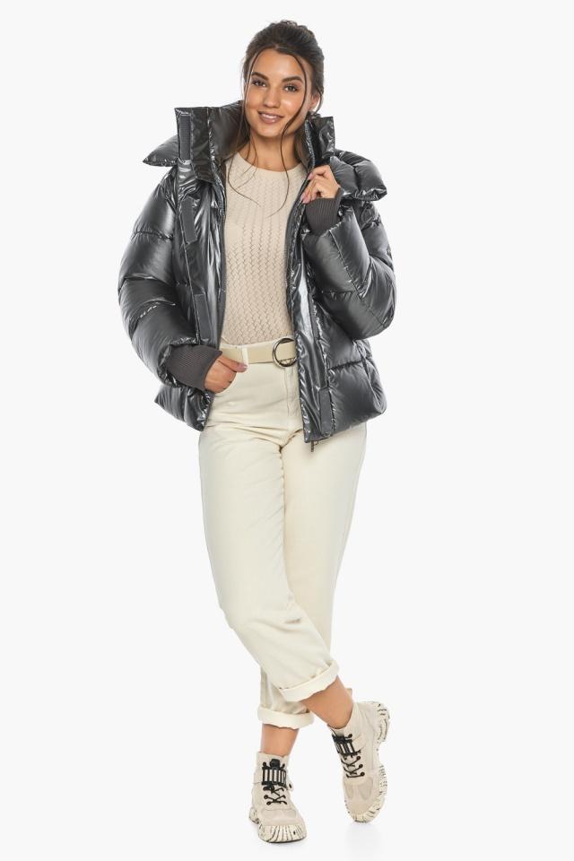 """Куртка женская модная цвет темное серебро модель 44210 Braggart """"Angel's Fluff"""" фото 4"""