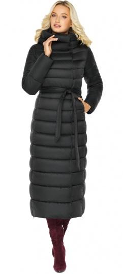 """Чёрная куртка женская зимняя на молнии модель 46620 Braggart """"Angel's Fluff"""" фото 1"""