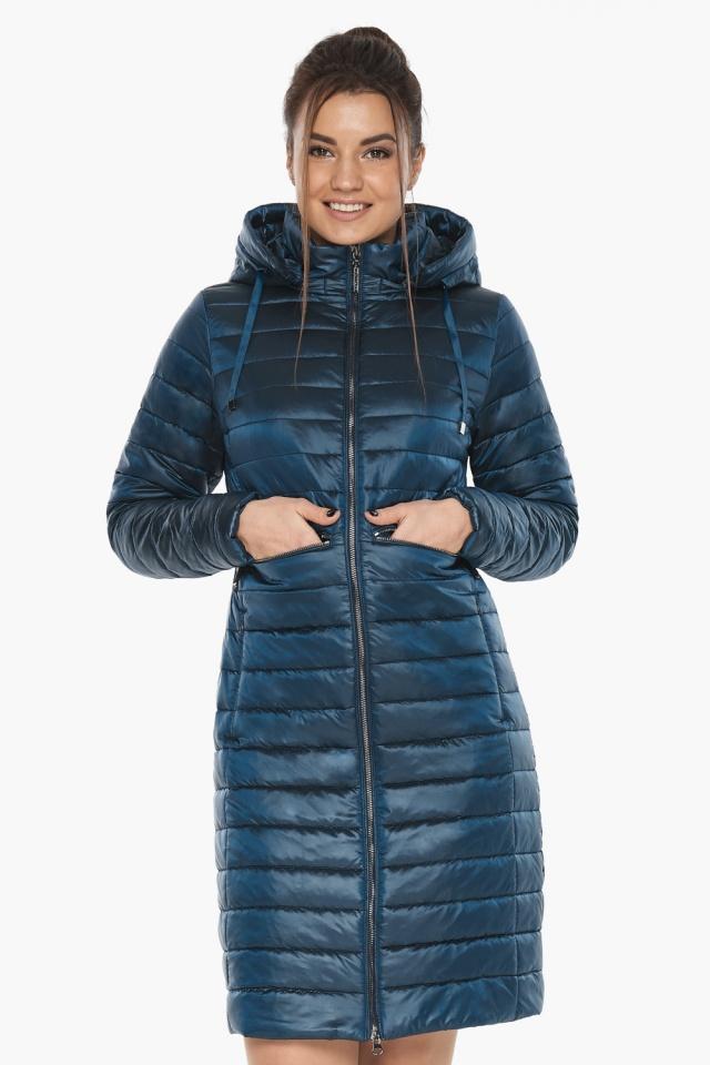 """Комфортная куртка женская осенне-весенняя цвет темная лазурь модель 68410 Braggart """"Angel's Fluff"""" фото 4"""