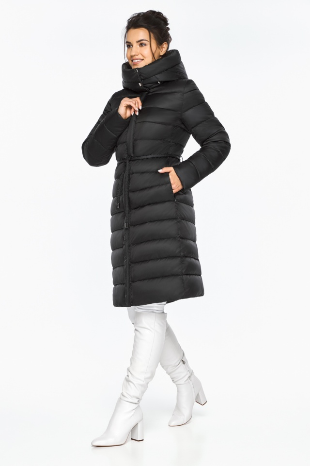 """Куртка удлиненная женская цвет черный модель 44860 Braggart """"Angel's Fluff"""" фото 4"""