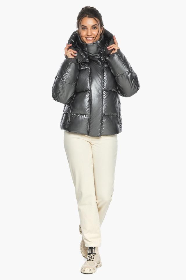"""Куртка женская модная цвет темное серебро модель 44210 Braggart """"Angel's Fluff"""" фото 2"""