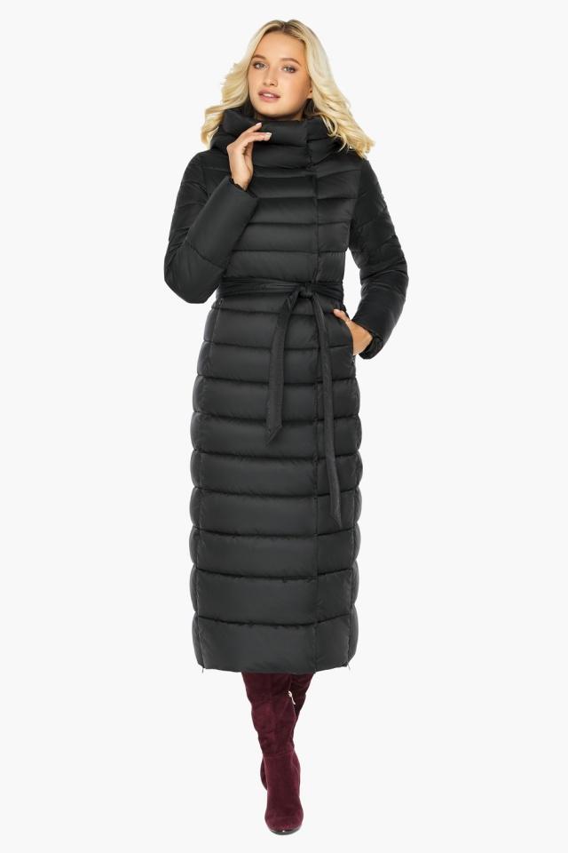 """Чёрная куртка женская зимняя на молнии модель 46620 Braggart """"Angel's Fluff"""" фото 2"""