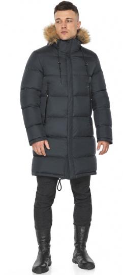 """Зимняя графитовая куртка классического кроя для мужчин модель 49318 Braggart """"Dress Code"""" фото 1"""