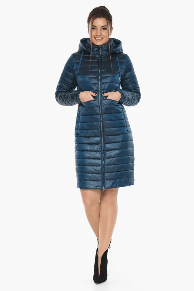 """Комфортная куртка женская осенне-весенняя цвет темная лазурь модель 68410 Braggart """"Angel's Fluff"""" фото 2"""