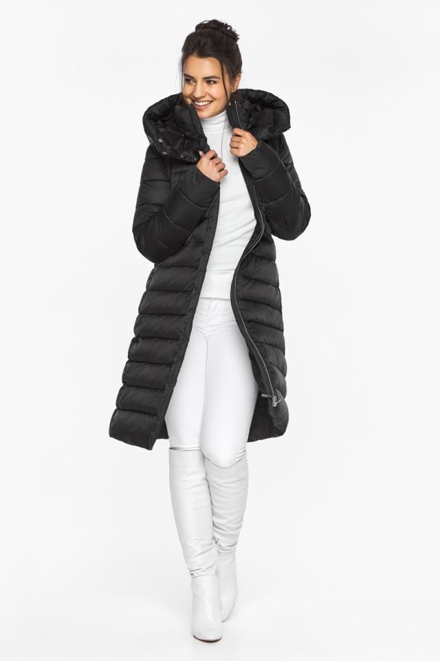 """Куртка удлиненная женская цвет черный модель 44860 Braggart """"Angel's Fluff"""" фото 2"""