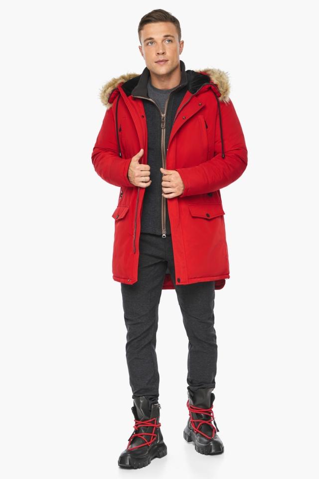 """Куртка – воздуховик красный зимний мужской модель 45062 Braggart """"Angel's Fluff Man"""" фото 7"""