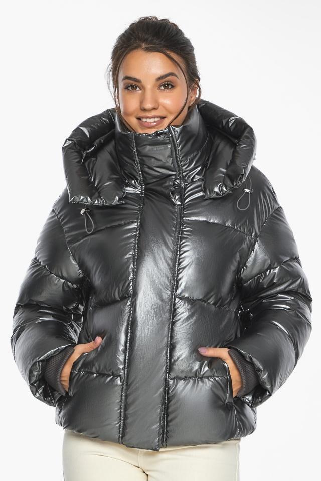 """Куртка женская модная цвет темное серебро модель 44210 Braggart """"Angel's Fluff"""" фото 3"""