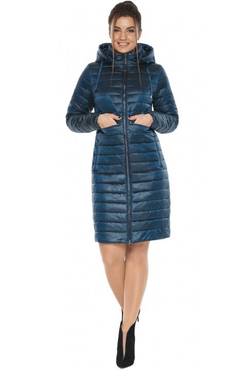 """Комфортна куртка жіноча осінньо-весняна колір темна блакить модель 68410 Braggart """"Angel's Fluff"""" фото 1"""