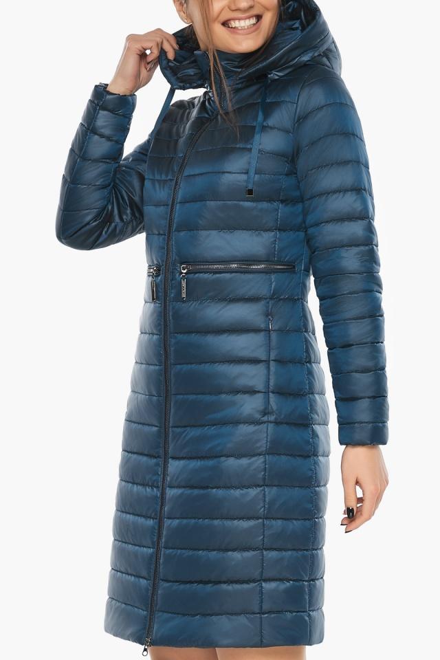 """Комфортная куртка женская осенне-весенняя цвет темная лазурь модель 68410 Braggart """"Angel's Fluff"""" фото 6"""