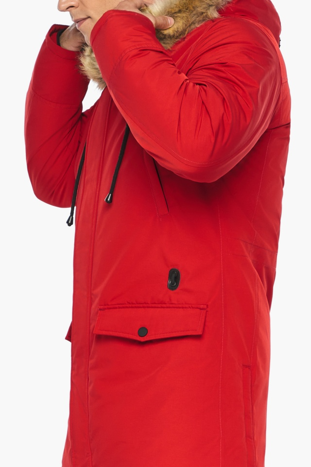 """Куртка – воздуховик красный зимний мужской модель 45062 Braggart """"Angel's Fluff Man"""" фото 9"""