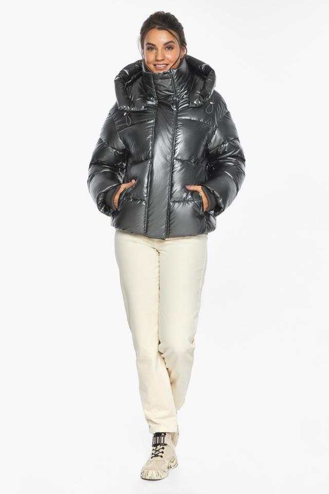 """Куртка женская модная цвет темное серебро модель 44210 Braggart """"Angel's Fluff"""" фото 6"""