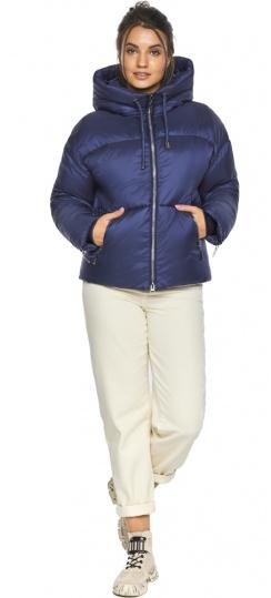 """Трендовая куртка женская зимняя цвет синий бархат модель 46280 Braggart """"Angel's Fluff"""" фото 1"""