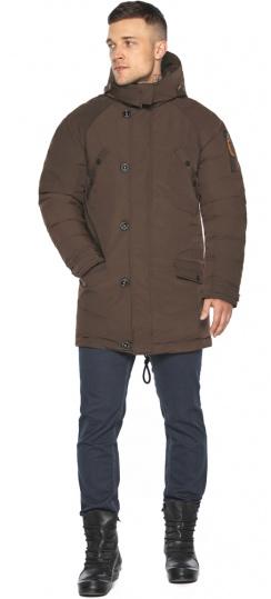 """Куртка – воздуховик коричневый утеплённый мужской зимний модель 30707 Braggart """"Angel's Fluff Man"""" фото 1"""