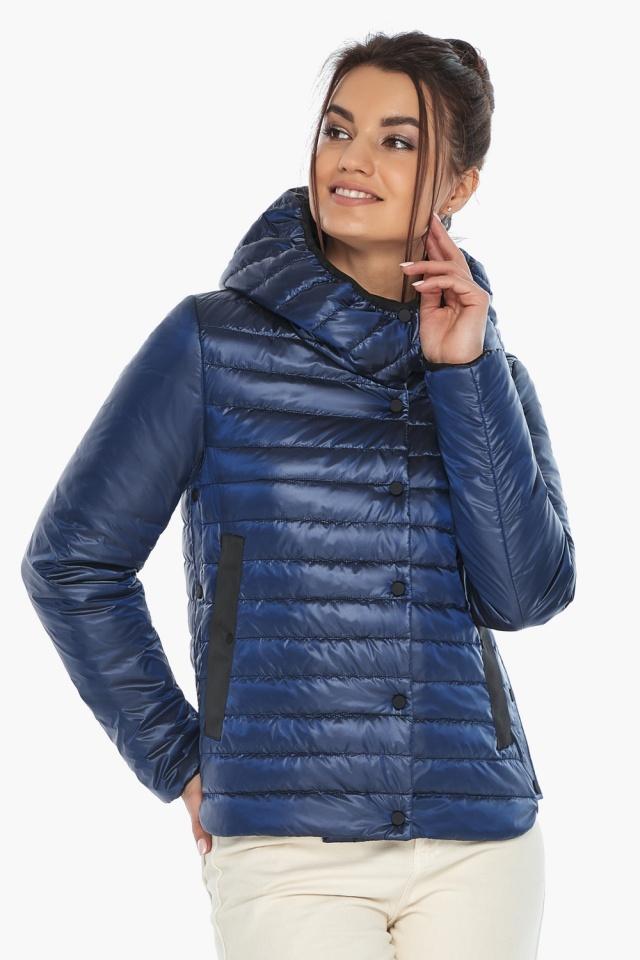 """Женская куртка сапфировая удобная на весну модель 64150 Braggart """"Angel's Fluff"""" фото 3"""