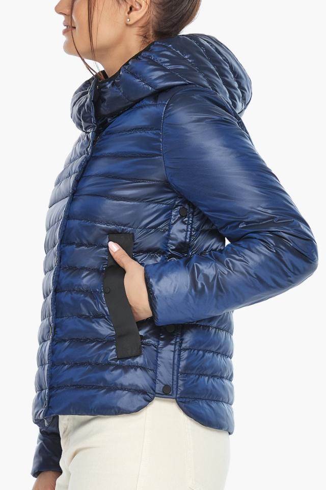 """Женская куртка сапфировая удобная на весну модель 64150 Braggart """"Angel's Fluff"""" фото 7"""