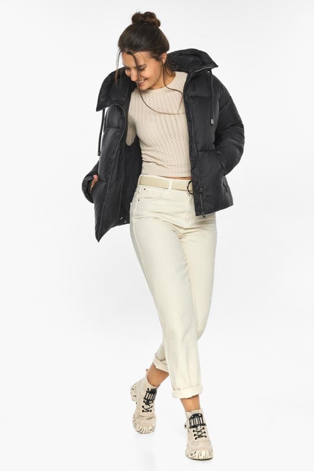 """Оригинальная куртка женская чёрная зимняя модель 46280 Braggart """"Angel's Fluff"""" фото 4"""