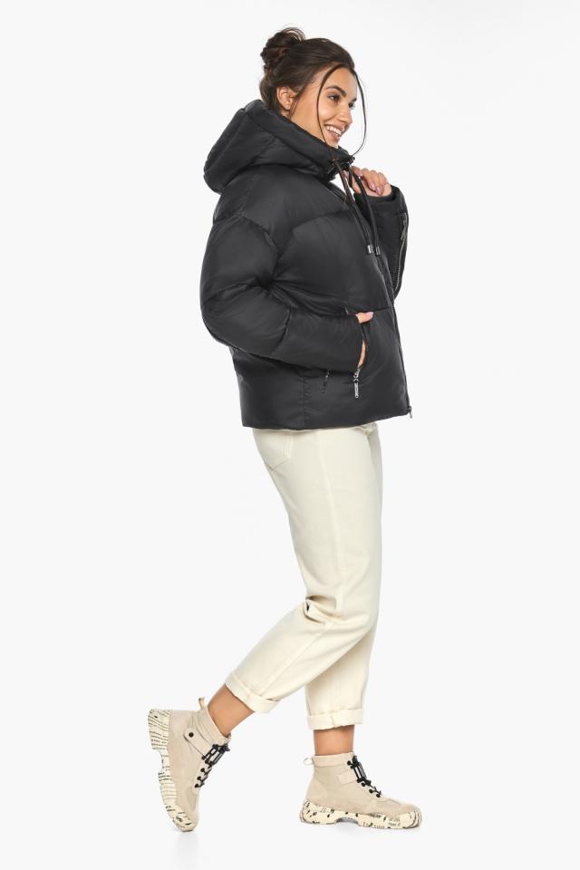 """Оригинальная куртка женская чёрная зимняя модель 46280 Braggart """"Angel's Fluff"""" фото 7"""